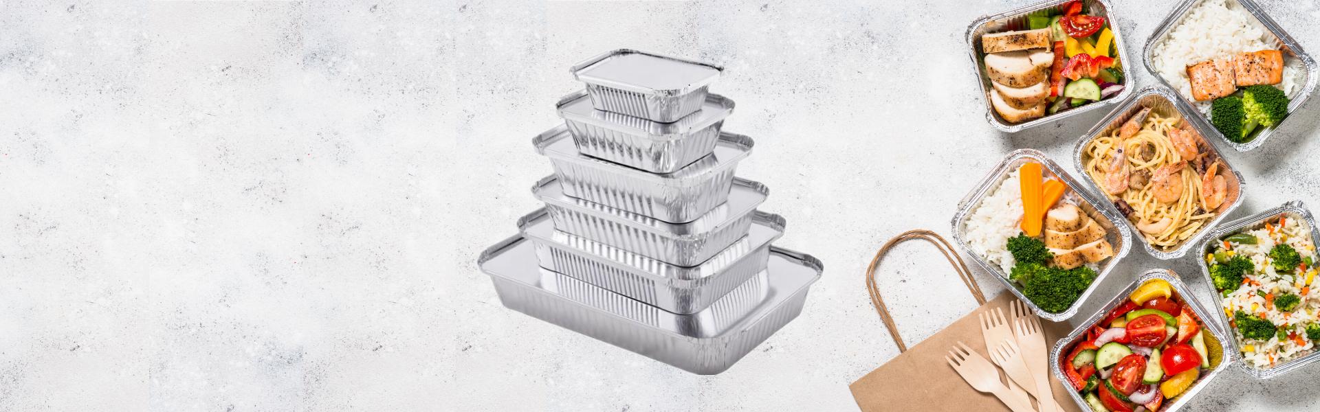 Picutre of aluminium foil containers