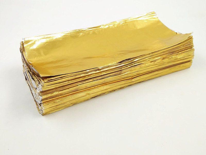 pop up aluminium foil sheets gold
