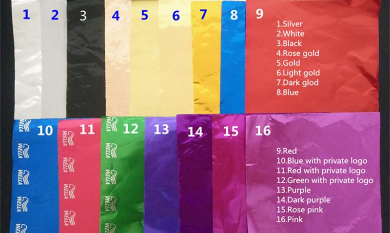 color swatch for hairdressing foil