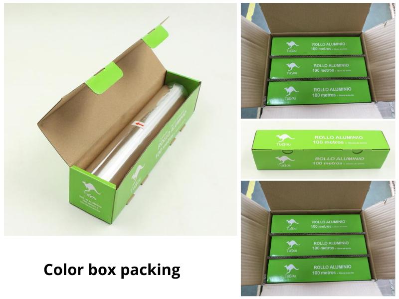 color box for heavy duty aluminium foil
