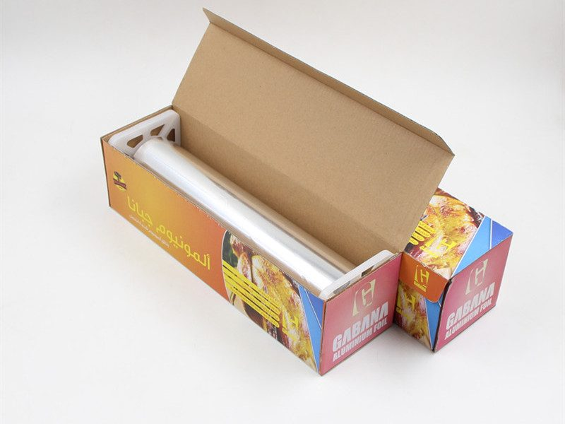 heavy duty aluminium foil fixed with plastic plugs packed with color box