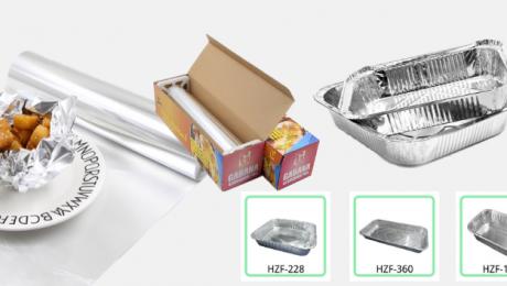 picture of aluminium foil roll and aluminium foil container