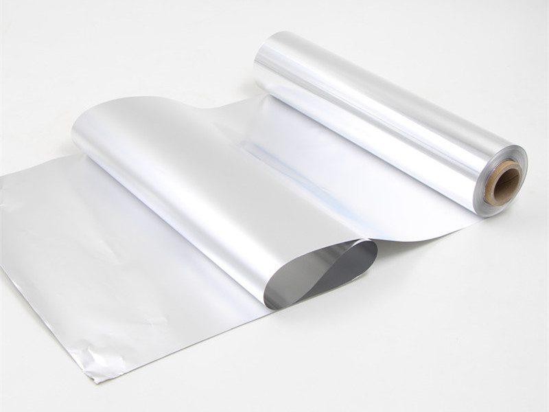 aluminium foil paper unfolded