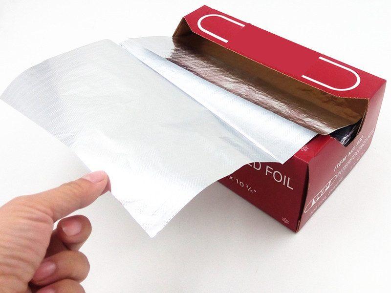 pop up aluminium foil sheets