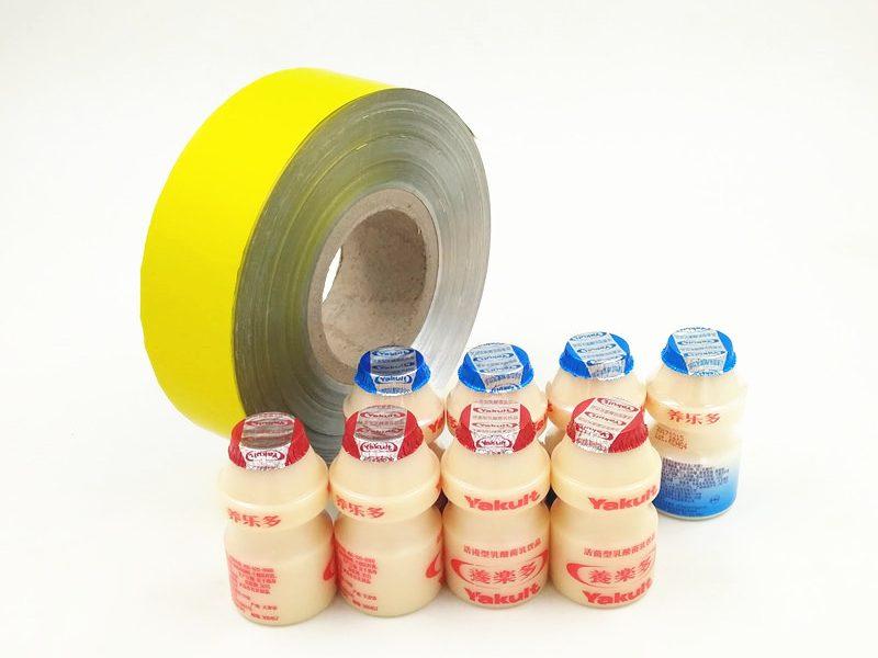 Yellow aluminium foil seal for bottle seal