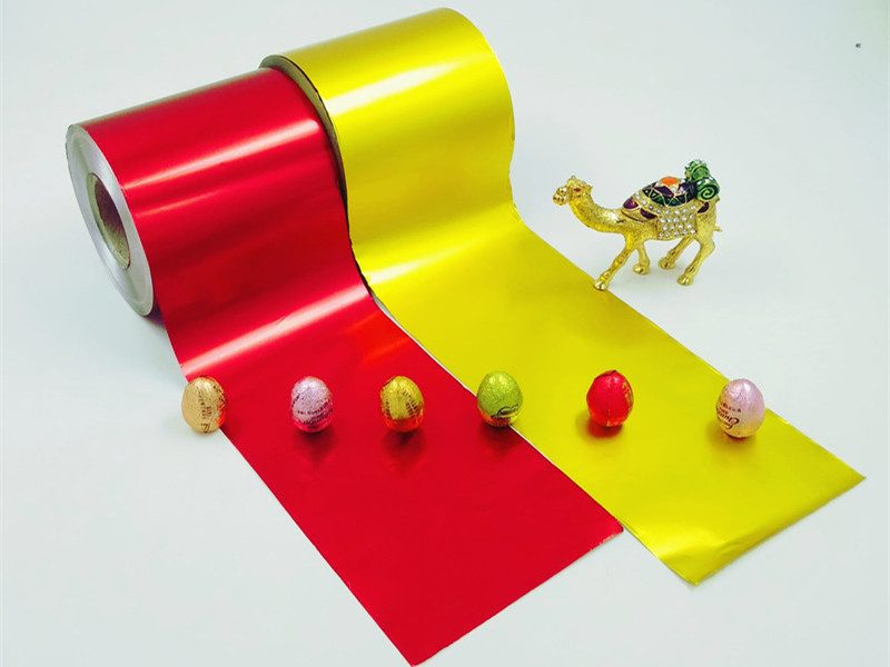 Pure chocolate foil wrappers in roll type