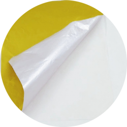 Wax composite foil for chocolate wrapping