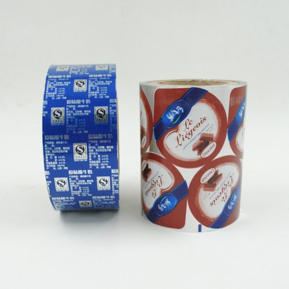 Yogurt cup seal film