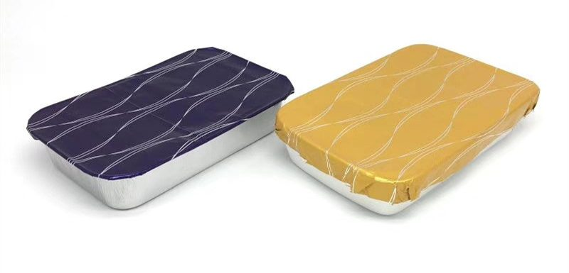 Aluminium foil contianer with foil paper lids