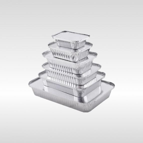 aluminium foil container rectangular in many sizes