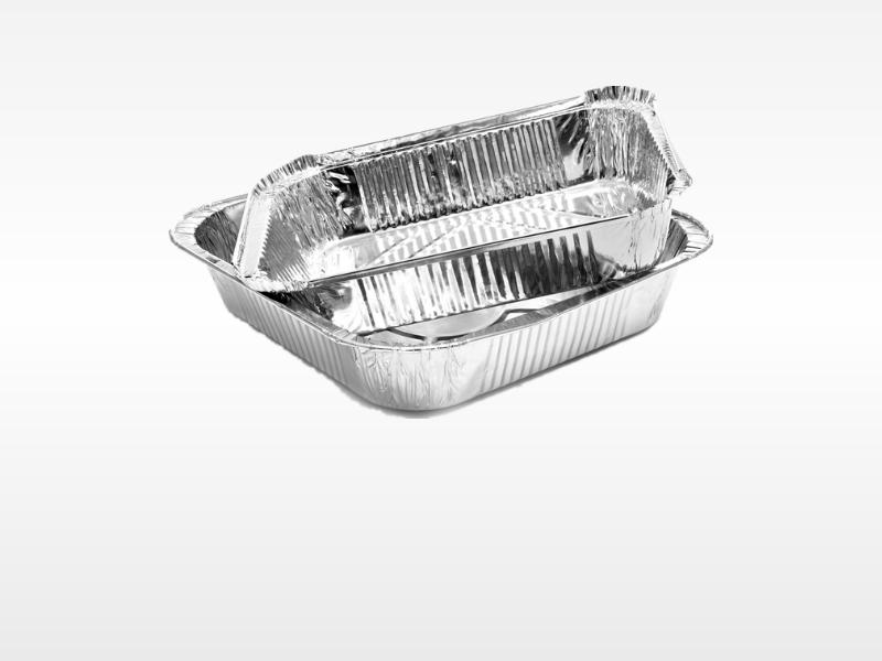 2 pcs of aluminium foil tray