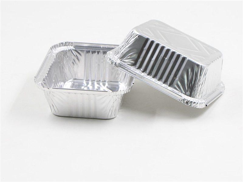 2 pcs of aluminium foil tray together