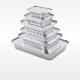 aluminium foil trays in various sizes