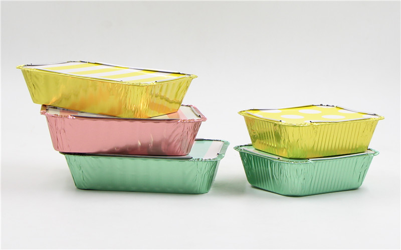 colored foil containers with lids side