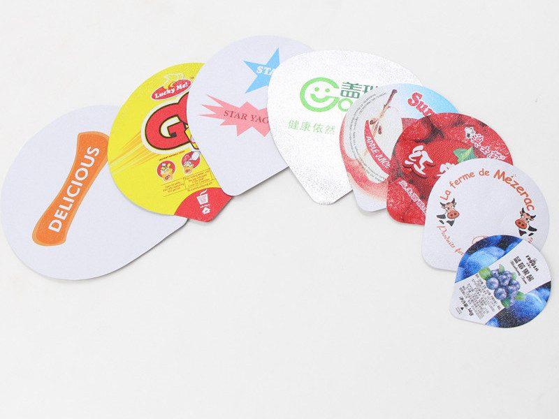 die cut aluminum yogurt lids in different sizes
