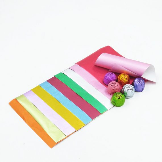 paper composite foil for chocolate wrapping with 6pcs chocolate